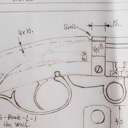 Arbeidstegning: Marmann underhammer-rifle