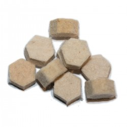 "Hexagonal .451"" Whitworth wads  (package of 100)"