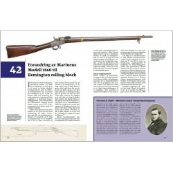 Side 338–339: Marinens forandring av M/1860 til Remington rolling block.